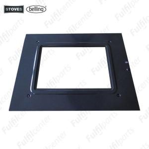 zwart doorzichtig ovendeur